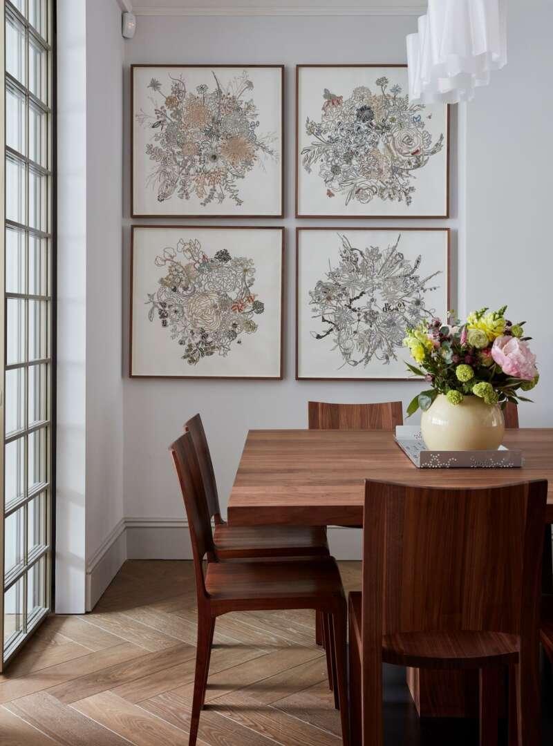 TREDEGAR herringbone dining room