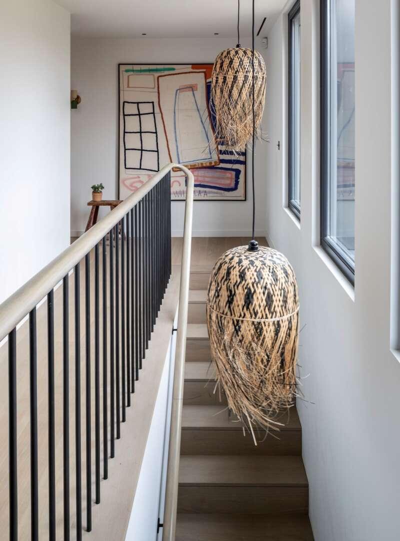 Light oak flooring landmark osterley hallway with stairs