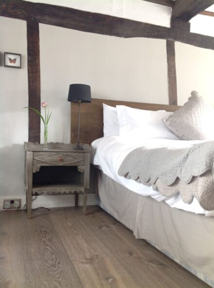 Oak dyrham wide board floor in bedroom swanhouse hastings