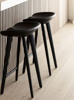 LONDON BLOOMSBURY with kitchen stools close up