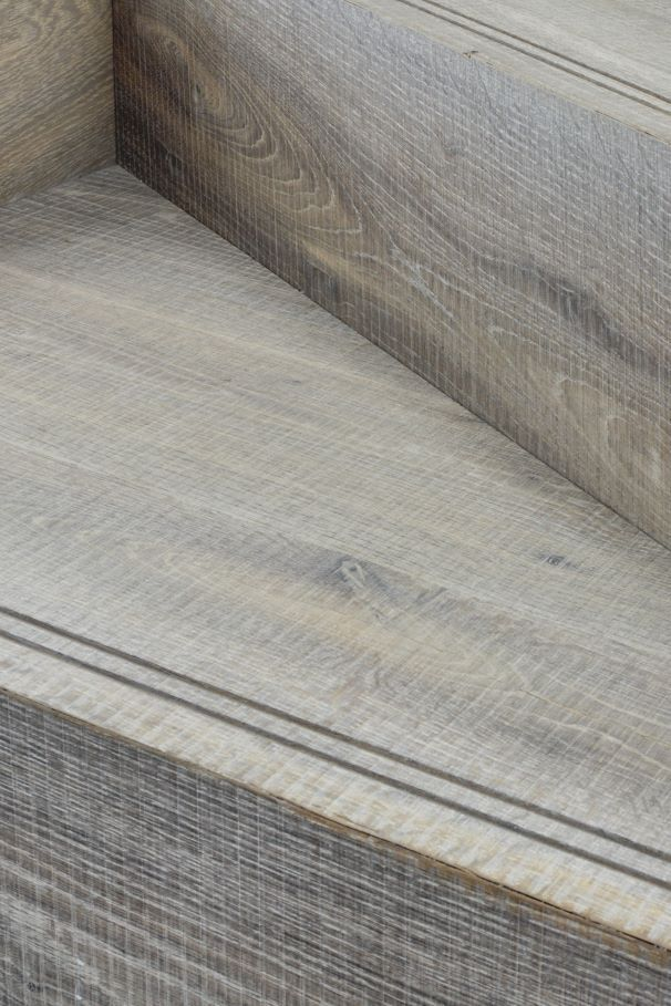 Oak Tate Tiree stair detail with metal strips
