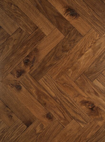 Dark oak herringbone flooring landmark tatton