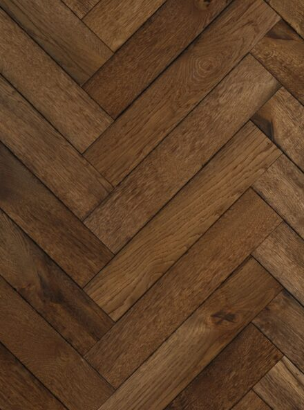 Dark oak herringbone flooring magma kamchatka