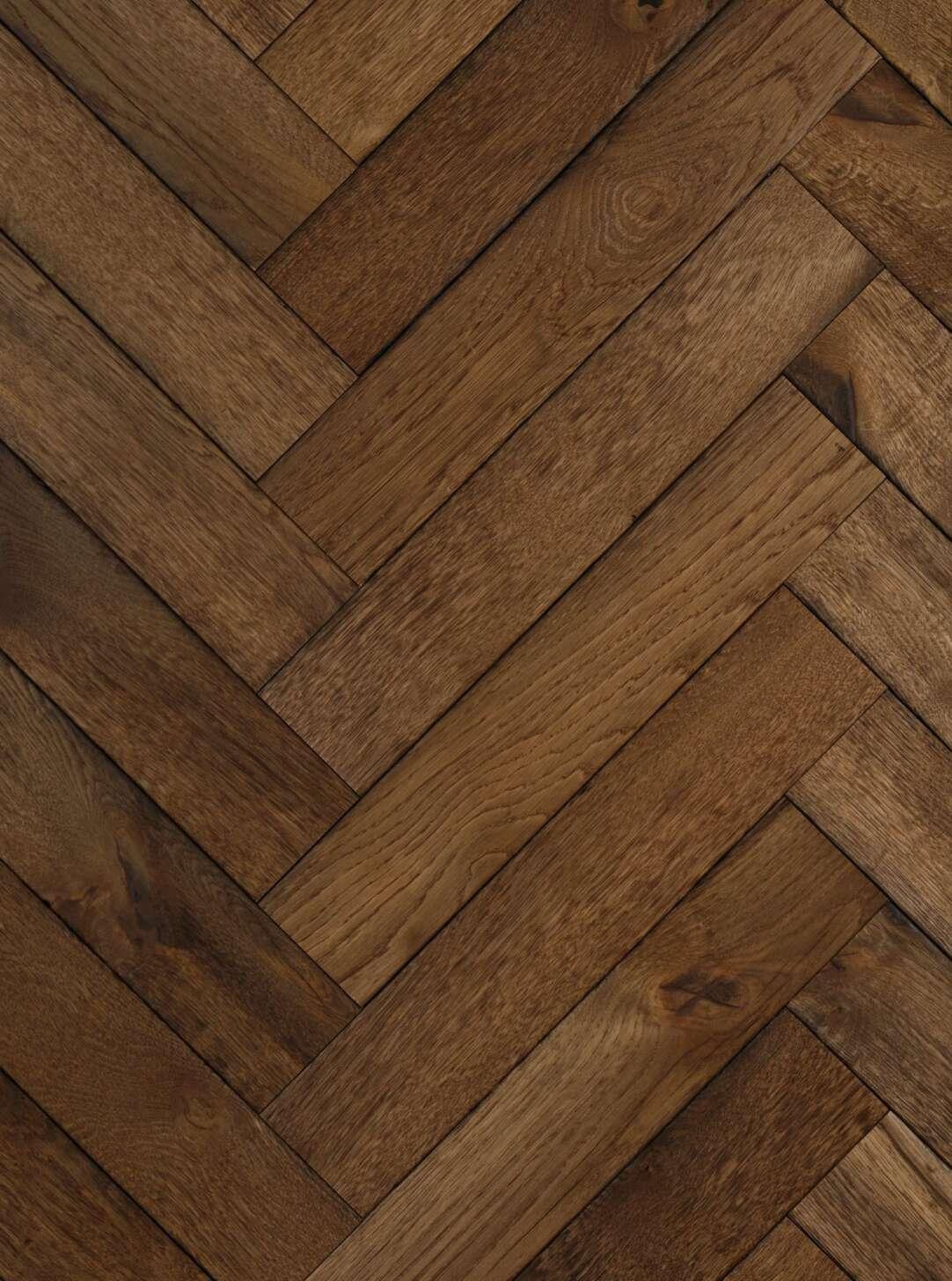 Dark oak herringbone flooring magma kamchatka