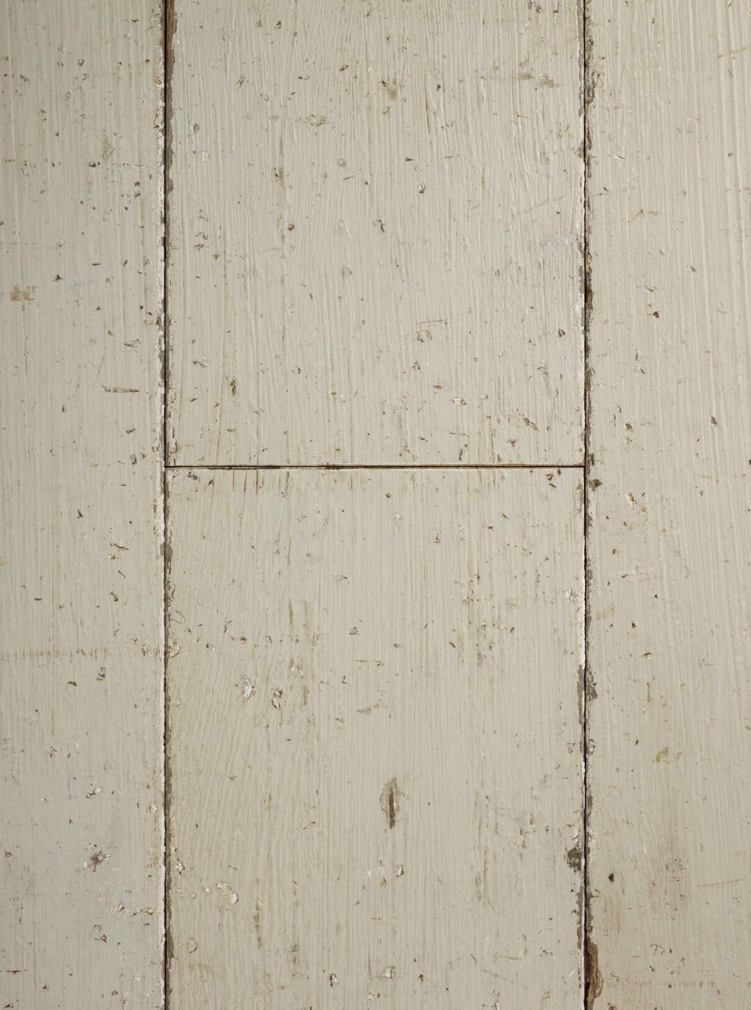 Oak shabby chic old white plank