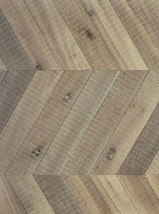 Textured oak chevron flooring tate bute heavy sawmarks