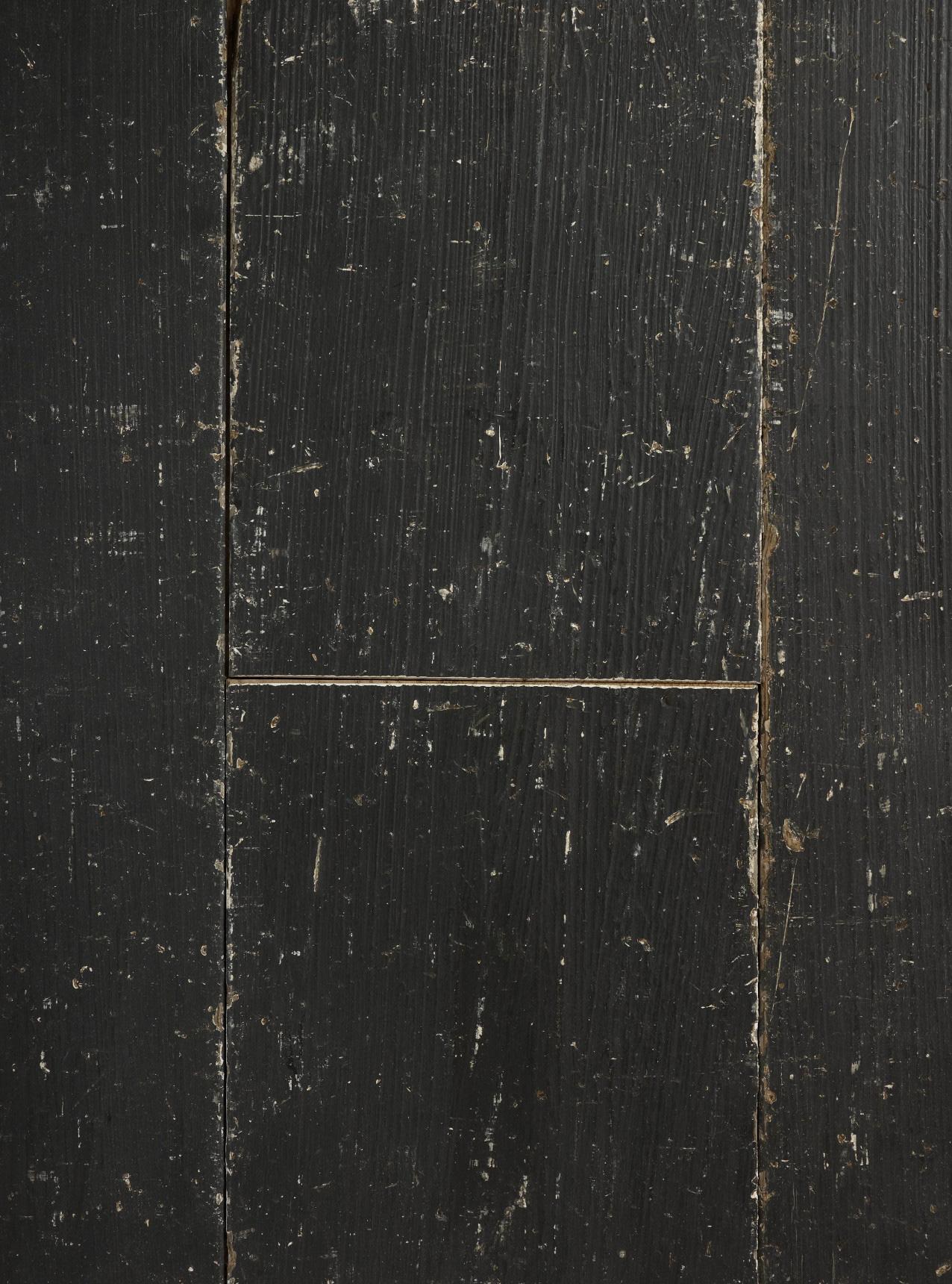 Oak shabby chic black plank
